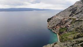 海岸线和山从空气 影视素材