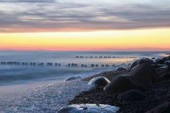 海岸线在冬天 免版税库存照片