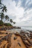 海岸线在加勒,斯里兰卡 免版税库存照片