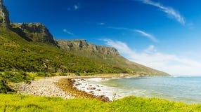 海岸线在南非 免版税库存照片