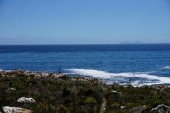 海岸线在开普敦附近的南非 免版税库存照片