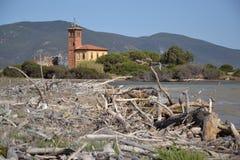 海岸线在托斯卡纳,意大利 免版税库存照片