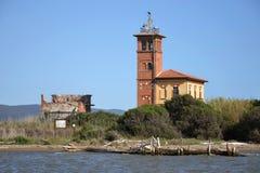 海岸线在托斯卡纳,意大利 免版税库存图片