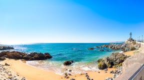 海岸线在比尼亚德尔马,智利 免版税图库摄影