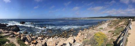 海岸线在蒙特雷加利福尼亚 库存图片