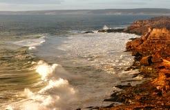 海岸线坚固性风景 免版税库存照片