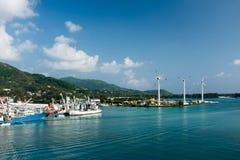 海岸线塞舌尔群岛 库存照片