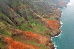 海岸线夏威夷考艾岛napali坚固性美国 库存照片