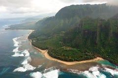 海岸线夏威夷考艾岛napali坚固性美国 免版税库存图片