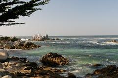 海岸线岩石的蒙特里 库存照片