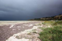 海岸线日阴沉的半岛yorke 免版税库存图片
