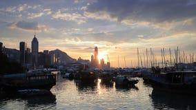海岸线有在hk的都市风景背景 影视素材