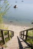 海岸线步骤 库存图片