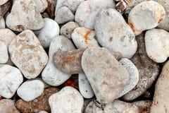 海岸线海小卵石 免版税库存图片