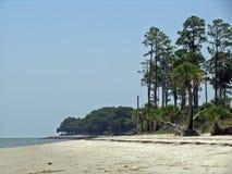 海岸线海滩希尔顿黑德岛 免版税库存照片