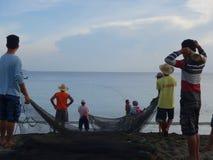 海岸线渔 库存照片