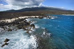 海岸线熔岩岩石 库存照片