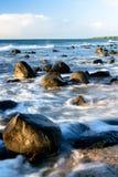 海岸线珊瑚礁日落 免版税库存图片