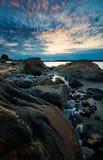 海岸线瑞典 库存照片