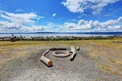 海岸线的看法在诺曼底公园,华盛顿 免版税库存图片