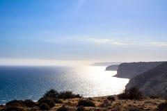 海岸线的美丽的景色 库存照片