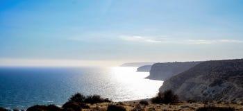 海岸线的美丽的景色 免版税库存照片