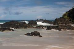 海岸线的风景看法 免版税库存图片