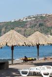 海岸线的Vew在马德拉岛海岛上的Ribeira Brava 库存图片