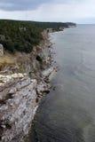 海岸线石头 免版税图库摄影