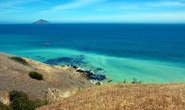 海岸线绿色 免版税图库摄影