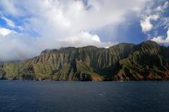 海岸线考艾岛na pali 库存照片