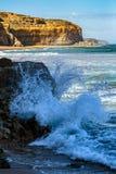 海岸线耶稣十二门徒,坎贝尔港,大洋路,维多利亚,澳大利亚 库存照片