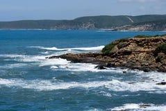 海岸线西部南部的撒丁岛 免版税库存照片