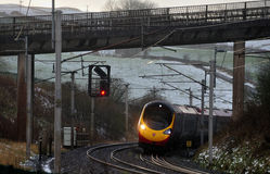 海岸线路西方主要的铁路运输英国 库存照片