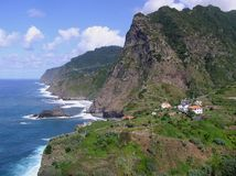 海岸线马德拉岛 库存照片