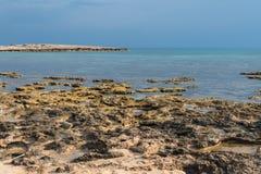 海岸线,东南塞浦路斯 免版税库存图片