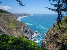 海岸线,大瑟尔,加利福尼亚 免版税库存照片