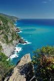 海岸线,当远足对韦尔纳扎时 图库摄影