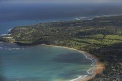 海岸线,考艾岛 免版税库存图片