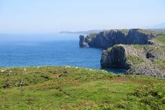 海岸线,肋前缘Verde,北西班牙 图库摄影