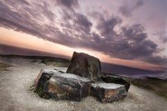 海岸线cornwall英国 库存图片