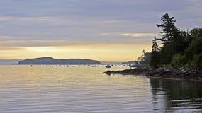海岸缅因 库存图片