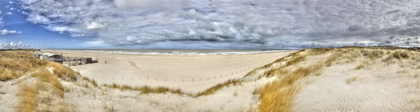 海岸荷兰语全景 免版税库存图片