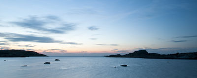 海岸西方的瑞典 免版税库存照片
