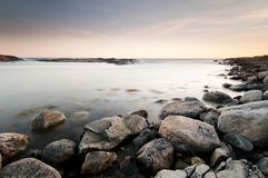 海岸西方的瑞典 免版税库存图片