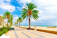 海岸西班牙 库存照片