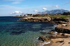 海岸西西里岛 免版税库存图片