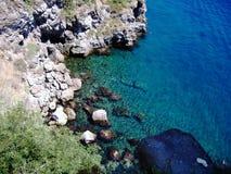 海岸西西里岛 库存图片