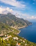 海岸视图, Ravello,意大利 库存图片