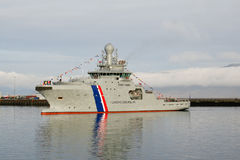 海岸警卫船 库存图片